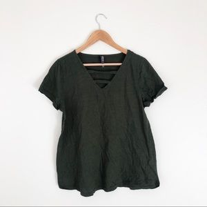 Torrid Green Knit Tee